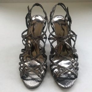 Nine West metallic strappy heeled sandals